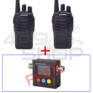 2x BAOFENG BF-888S FM RADIO FREE FOR SURECOM SW102 VHF/UHF Power & SWR Meter
