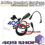 2-Wire Earp. w/Combined MIC & PTT+Mini Din Plug 44-MM