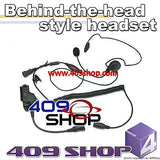 Behind the Head Two Way Radio Headsets for MOTOROLA HT-1000, HT-2000 and 8000/9000