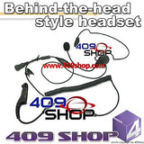 Behind the Head Two Way Radio Headsets for Midland - All 2-Pin 75-785, 75440, GTX-200