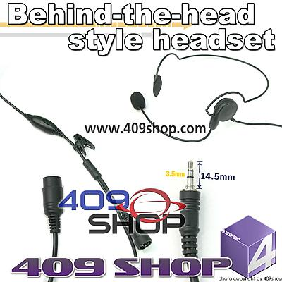 Behind the Head Two Way Radio Headsets for MOTOROLA Visar series
