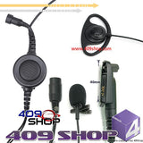 D Ring Earpiece with Big Switch PTT+MiniDin Plug 44-M328plus for GL2000 EX500 EX600