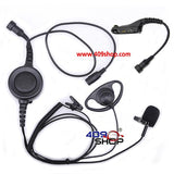 D Ring Earpiece with Big Switch PTT+Mini Din Plug 44-M7 for XPR 6300 XPR 6350 XPR 6500
