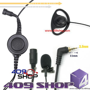 D Ring Earpiece with Big Switch PTT+Mini Din Plug 44-MM for i275 i305 i315