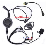 D Ring Earpiece with Big Switch PTT+ Mini Din Plug 44-S for IC-H6 IC-J12 IC-M5