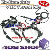Medium-duty VOX Throat Mic for EX500 GP328+ GP338plus