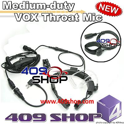 Medium-duty VOX Throat Mic for TC-1600 TC-2110 HYT850