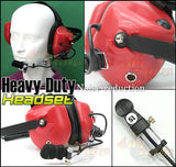 Heavy-duty Noise-reduction Headset(R)+Mini Din Plug44-MT