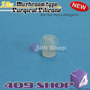 1 set =10pcs Surgical Silicone Ear Tips Hypo-Allergenic