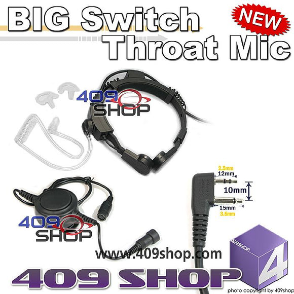 Military Grade Tactical Throat Mic for GTX-444 GTX-450 GXT500VP
