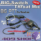 Military Grade Tactical Throat Mic for IC-F14/24 IC-F21 F21S