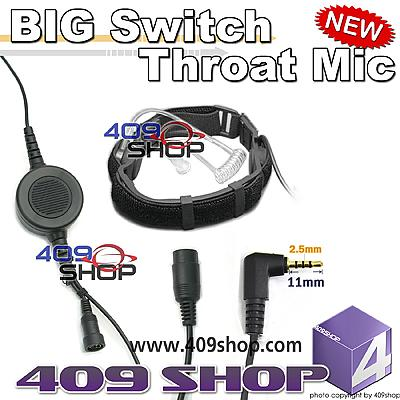 BIG SWitch Forehead/Throat Mic +Mini Din Plug 44-R