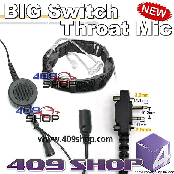 BIG Switch Forehead/Throat Mic +Mini Din Plug 44-S6