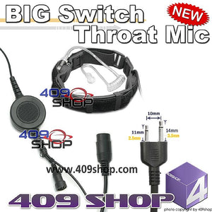 BIG Switch Forehead/Throat Mic +Mini Din Plug 44-S