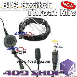 BIG Switch Forehead/Throat Mic +Mini Din Plug 44-Y7