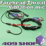 Forehead/Throat-Vibration mic + Mini Din Plug 44-S