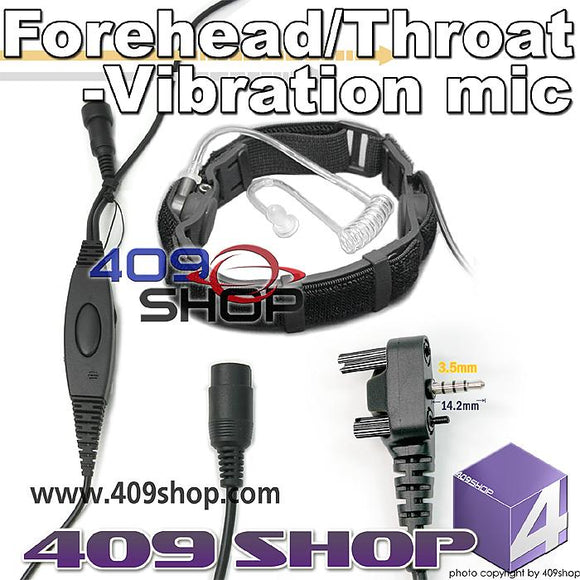 Forehead/Throat-Vibration mic + Mini Din Plug 44-Y4