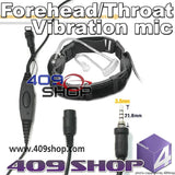 Forehead/Throat-Vibration mic + Mini Din Plug 44-Y7