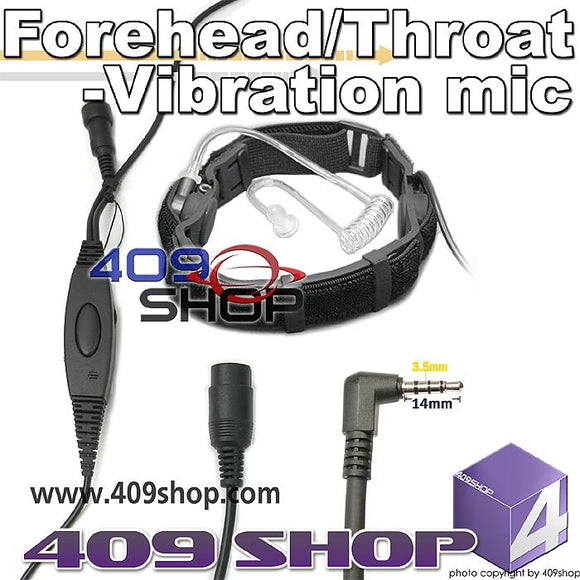 Forehead/Throat-Vibration mic + Mini Din Plug 44-Y