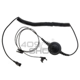 Big Switch PTT Ear Vibration Earpiece with Mini Din Plug with Lock