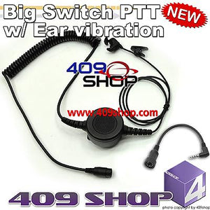 Big switch PTT with ear vibration +Mini Din Plug 44-B for UV-3R Mark II UV-100 UV-100