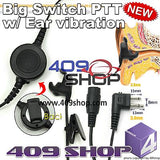 Big switch PTT with ear vibration +Mini Din Plug 44-M PRO3150 PMR446 SP10