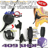 Big switch PTT with ear vibration +Mini Din Plug 44-S6 for F3021T IC F-3026 S / F-4000