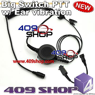 Big switch PTT with ear vibration +Mini Din Plug 44-S8 for F3001 F3002 IC3011