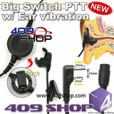 Big switch PTT with ear vibration +Mini Din Plug 44-SL for IC-F4G IC-F4GS IC-F11