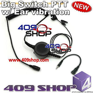 Big switch PTT with ear vibration +Mini Din Plug 44-V for Visar series
