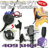 Big switch PTT with ear vibration +Mini Din Plug 44-Y4 for VX160 VX-168 VX180