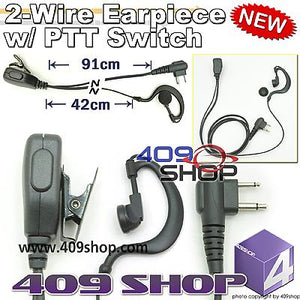 D ring 2 wire Ear Loop Earpiece with PTT for PX-680 PX680