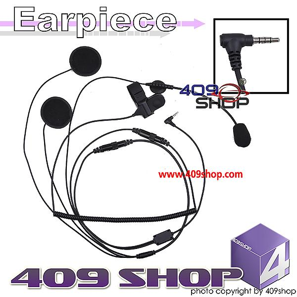 Motocycle helmet half face headset kit for Yaesu (Y plug) for VX-130 VX160 VX-168