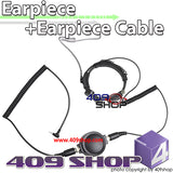 Big Round Throat Mic and Yaesu Earpiece Cable (Y plug)