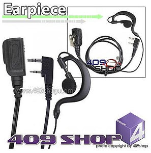 D-Ring Earhook 2 Wire PTT Earpiece Mic ( K plug)