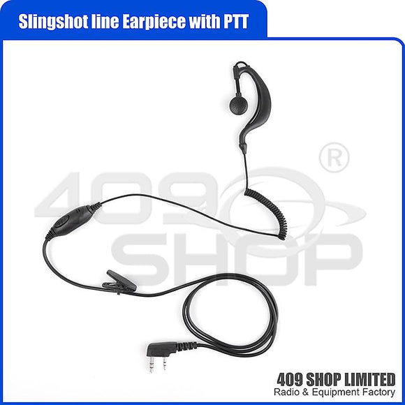 Slingshot Line Earpiece with PTT for Baofeng TYT Radio for FD-780 FD-790 FD-850