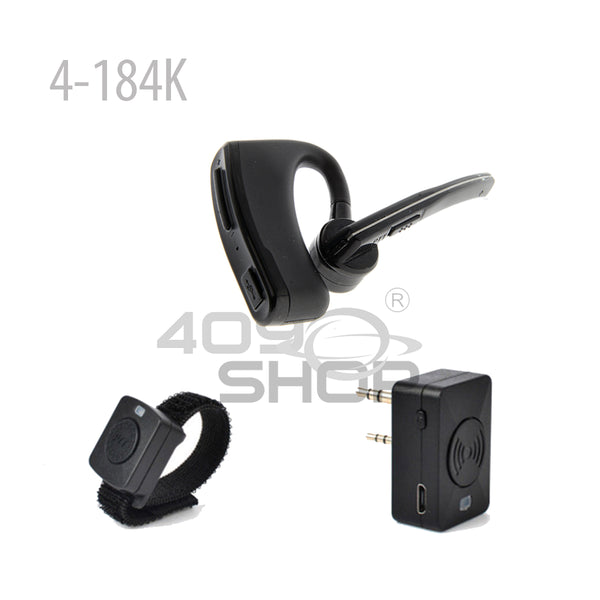 4-184 Series Bluetooth Earpiece Dual PTT for  Walkie Talkie Kenwood  ICOM HYT MOTOROLA (Choose Plug)