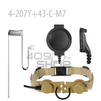 Z Tactical Throat Microphone Headset Neckband Hunting Airsofte Throat Mic Earphone