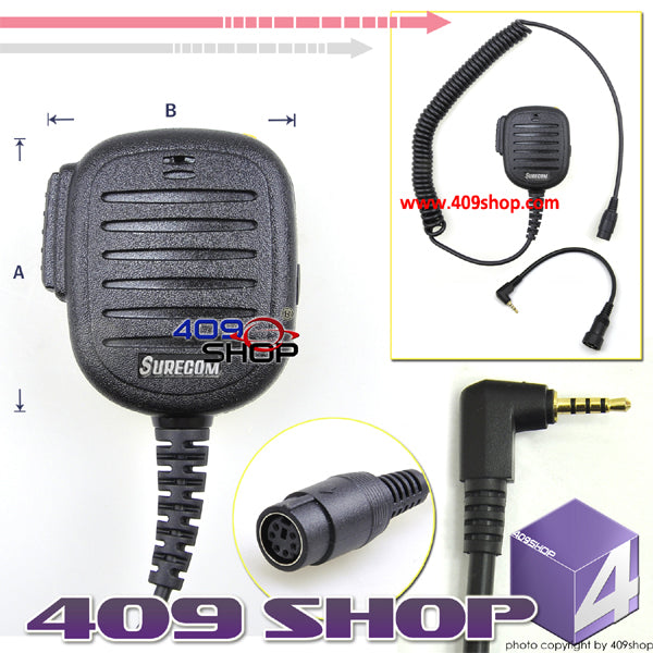 SURECOM Rainproof Speaker Mic for NKT-R3 PX-A6 PX-2R