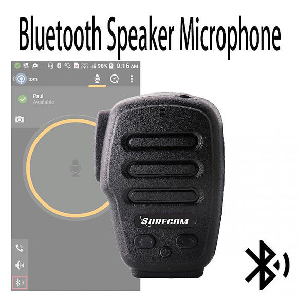 Surecom waterproof Bluetooth Speaker Microphone PTT for Zello Android