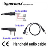 Surecom 50cm Repeater Controller Cable for KENWOOD (K plug 2 pin)