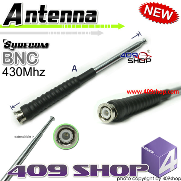 TELESCOPIC ANTENNA BNC 430Mhz for TK300, TK310, TK320