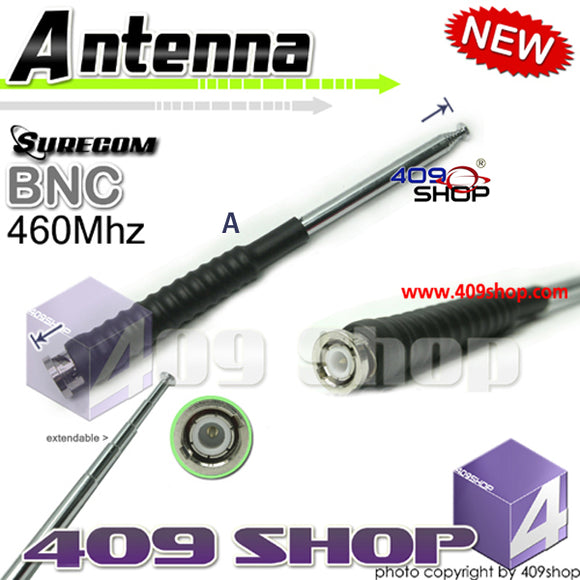 SURECOM BNC Telescopic Antenna 460Mhz for HT440, HT90: Maxon HR