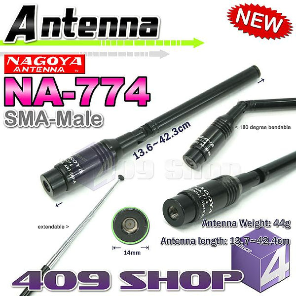 NAGOYA NA-774 SMA-MALE DUAL BAND ANTENNA