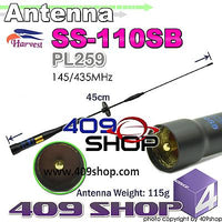 HARVEST SS110SB Black Mobile Antenna 145/435MHZ
