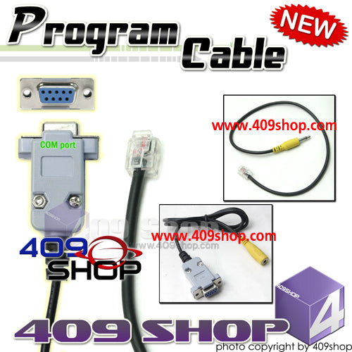 Com port Prog Cable+Adaptor for YAESU