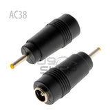 2pcs DC Power Connectors Adapter 5.5mm*2.1mm Female to 2.5mm*0.7mm Male