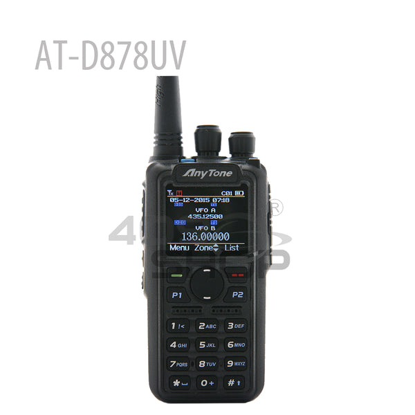 Anytone AT-D878UV DMR & Analog Dual Band GPS APRS Radio Walkie Talkie