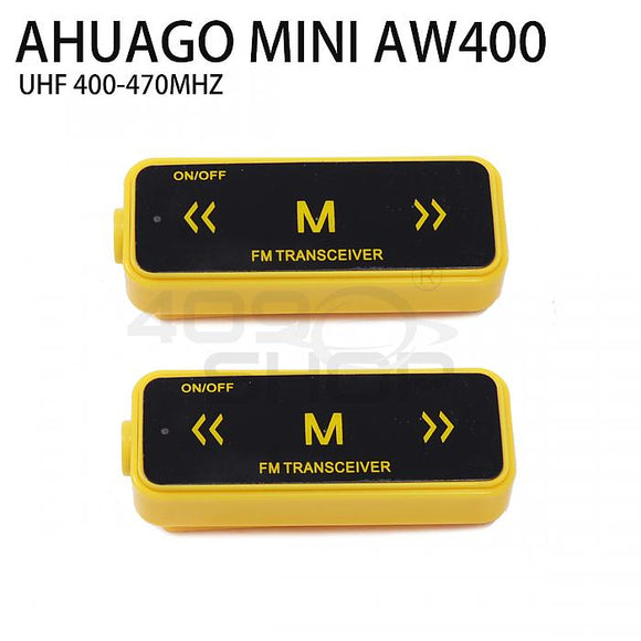 AHUAGO Mini Radio YELLOW 16 Channel Walkie Talkie UHF 400-470 MHz