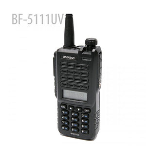 BaoFeng BF-5111UV Walkie Talkie CB Radio 128CH 5W Dual Band Dual PTT Portable